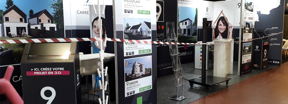 Angers bandeau stand foire expo